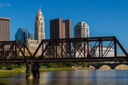 Columbus, Ohio skyline from North Bank Park.