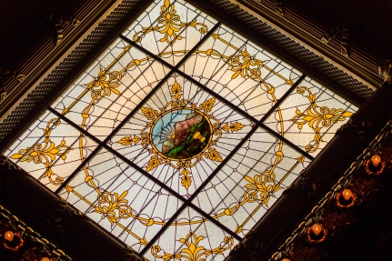 Close up of Stained Glass at Ohio Statehouse
