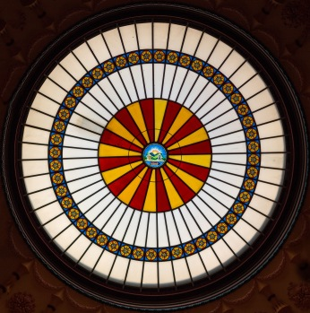 Closeup of Stained Glass at Ohio Statehouse