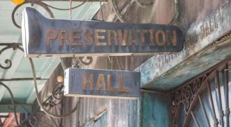 Preservation Hall Sign