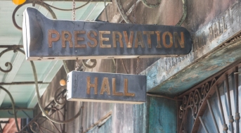 Preservation Hall Sign