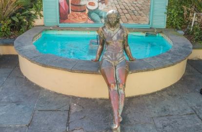 Statue behind Cafe du Monde - New Orleans