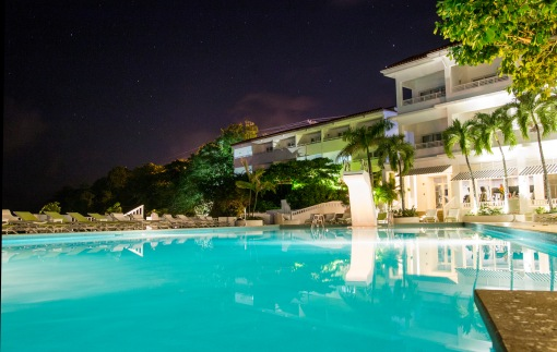 Pool Under the Stars Couples Tower Isle Jamaica