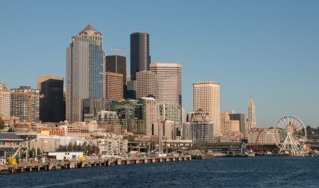 Seattle Skyline and Ferris Wheel
