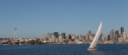 Seattle Skyline and Sailboat