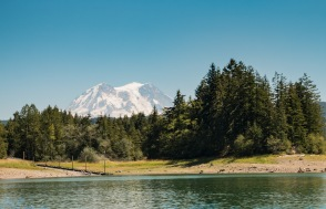 Pacific Northwest Lake with Mount Rainier